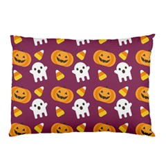 Pumpkin Ghost Canddy Helloween Pillow Case (two Sides) by AnjaniArt