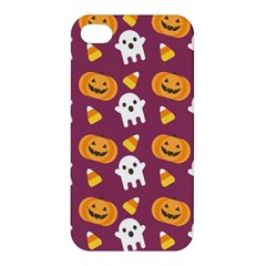 Pumpkin Ghost Canddy Helloween Apple Iphone 4/4s Premium Hardshell Case