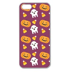 Pumpkin Ghost Canddy Helloween Apple Seamless Iphone 5 Case (clear) by AnjaniArt