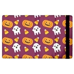 Pumpkin Ghost Canddy Helloween Apple Ipad 3/4 Flip Case by AnjaniArt