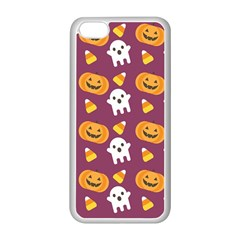 Pumpkin Ghost Canddy Helloween Apple Iphone 5c Seamless Case (white) by AnjaniArt