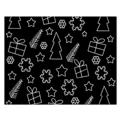 Simple Xmas Pattern Rectangular Jigsaw Puzzl by Valentinaart