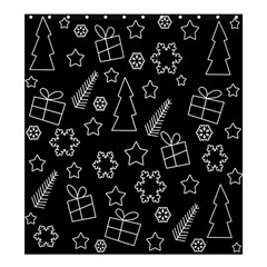Simple Xmas Pattern Shower Curtain 66  X 72  (large)  by Valentinaart