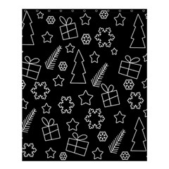Simple Xmas Pattern Shower Curtain 60  X 72  (medium)  by Valentinaart