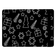 Simple Xmas Pattern Samsung Galaxy Tab Pro 12 2  Flip Case by Valentinaart