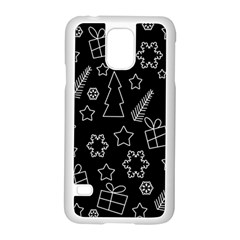 Simple Xmas Pattern Samsung Galaxy S5 Case (white)