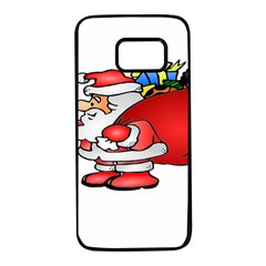 Santa Claus Xmas Christmas Samsung Galaxy S7 Black Seamless Case