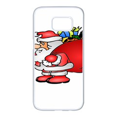 Santa Claus Xmas Christmas Samsung Galaxy S7 Edge White Seamless Case