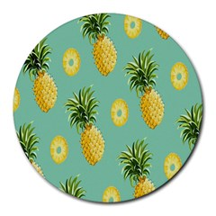 Pineapple Round Mousepads by AnjaniArt