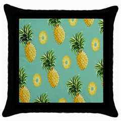 Pineapple Throw Pillow Case (black) by AnjaniArt