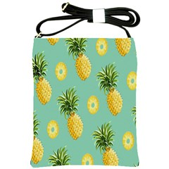 Pineapple Shoulder Sling Bags by AnjaniArt