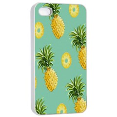 Pineapple Apple Iphone 4/4s Seamless Case (white) by AnjaniArt
