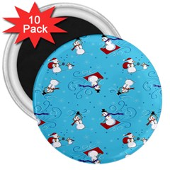Snowman 3  Magnets (10 Pack)  by AnjaniArt