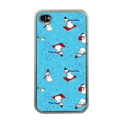 Snowman Apple Iphone 4 Case (clear)