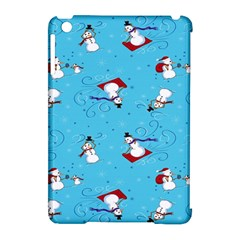 Snowman Apple Ipad Mini Hardshell Case (compatible With Smart Cover) by AnjaniArt