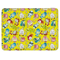 Robot Cartoons Samsung Galaxy Tab 7  P1000 Flip Case