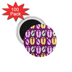 Soles Of The Feet 1 75  Magnets (100 Pack)