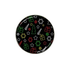 Colorful Xmas Pattern Hat Clip Ball Marker by Valentinaart