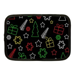 Colorful Xmas Pattern Netbook Case (medium)  by Valentinaart
