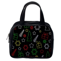 Colorful Xmas Pattern Classic Handbags (one Side) by Valentinaart