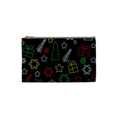 Colorful Xmas Pattern Cosmetic Bag (small)  by Valentinaart
