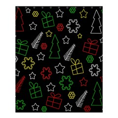 Colorful Xmas Pattern Shower Curtain 60  X 72  (medium)  by Valentinaart