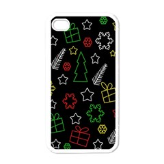 Colorful Xmas Pattern Apple Iphone 4 Case (white)