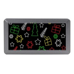 Colorful Xmas Pattern Memory Card Reader (mini) by Valentinaart