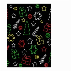 Colorful Xmas Pattern Small Garden Flag (two Sides)