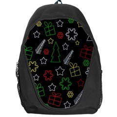 Colorful Xmas Pattern Backpack Bag by Valentinaart