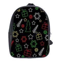 Colorful Xmas Pattern School Bags (xl)  by Valentinaart