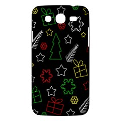 Colorful Xmas Pattern Samsung Galaxy Mega 5 8 I9152 Hardshell Case  by Valentinaart