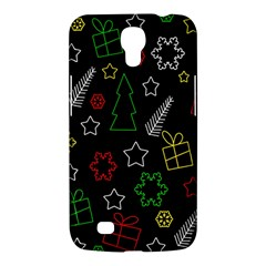 Colorful Xmas Pattern Samsung Galaxy Mega 6 3  I9200 Hardshell Case by Valentinaart