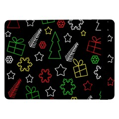 Colorful Xmas Pattern Samsung Galaxy Tab Pro 12 2  Flip Case by Valentinaart