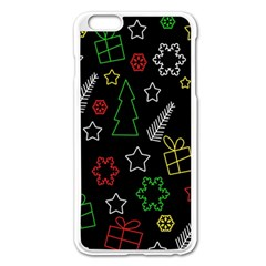 Colorful Xmas Pattern Apple Iphone 6 Plus/6s Plus Enamel White Case by Valentinaart