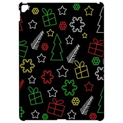 Colorful Xmas Pattern Apple Ipad Pro 12 9   Hardshell Case by Valentinaart