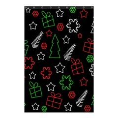 Green And  Red Xmas Pattern Shower Curtain 48  X 72  (small)  by Valentinaart