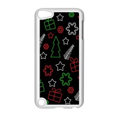 Green And  Red Xmas Pattern Apple Ipod Touch 5 Case (white) by Valentinaart