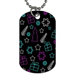 Creative Xmas Pattern Dog Tag (two Sides) by Valentinaart