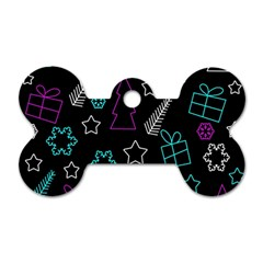 Creative Xmas Pattern Dog Tag Bone (one Side) by Valentinaart