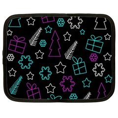 Creative Xmas Pattern Netbook Case (large) by Valentinaart