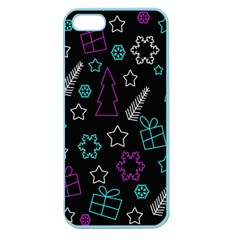 Creative Xmas Pattern Apple Seamless Iphone 5 Case (color) by Valentinaart