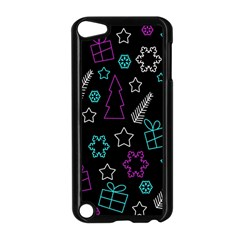 Creative Xmas Pattern Apple Ipod Touch 5 Case (black) by Valentinaart