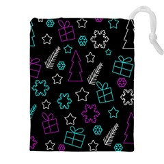 Creative Xmas Pattern Drawstring Pouches (xxl) by Valentinaart