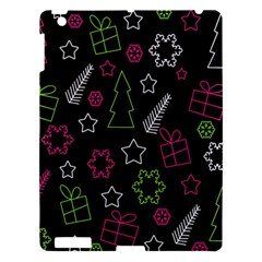 Elegant Xmas Pattern Apple Ipad 3/4 Hardshell Case by Valentinaart
