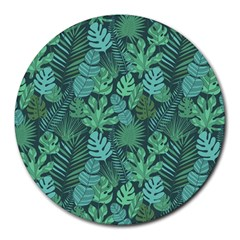 Tropical Plantation Pattern2 Round Mousepads by Mishacat