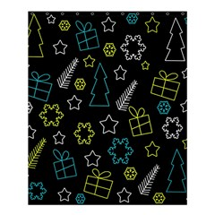 Xmas Pattern - Blue And Yellow Shower Curtain 60  X 72  (medium)  by Valentinaart