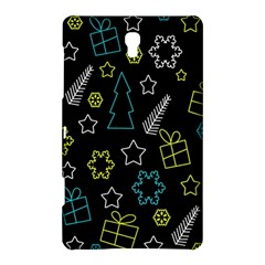 Xmas Pattern   Blue And Yellow Samsung Galaxy Tab S (8 4 ) Hardshell Case  by Valentinaart