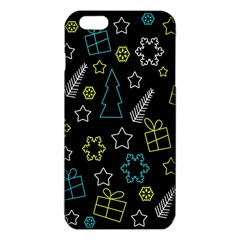 Xmas Pattern   Blue And Yellow Iphone 6 Plus/6s Plus Tpu Case by Valentinaart