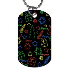 Playful Xmas Pattern Dog Tag (one Side) by Valentinaart